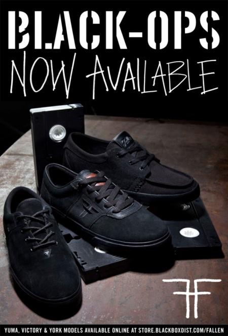 c574162f Ролик был снят в качестве рекламы в поддержку абсолютно чёрной The  Black-Ops коллекции от Fallen. Модели для рискованных скейтборд диверсантов.